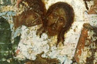 Сказание о Нерукотворном образе. Икона XVI века из собрания Константина Воронина.