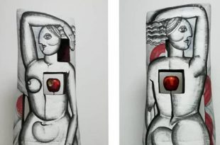 Тень женщины. Керамика.