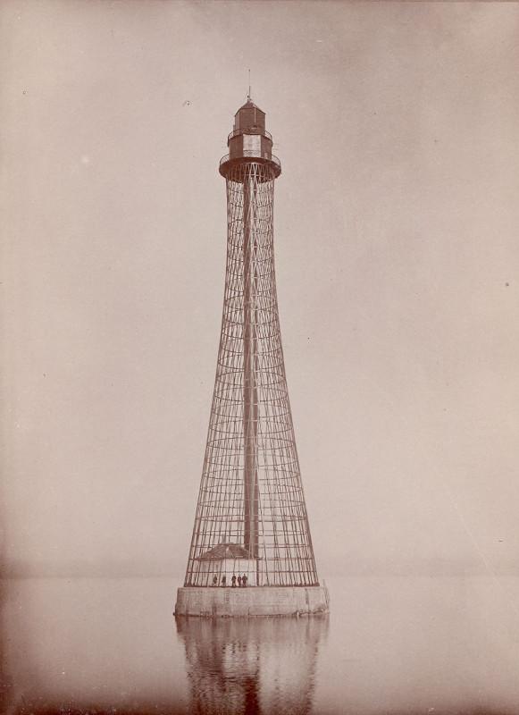 Аджигольский маяк системы инженера В.Г. Шухова под Херсоном высотой 68 м. Фотография, 1911