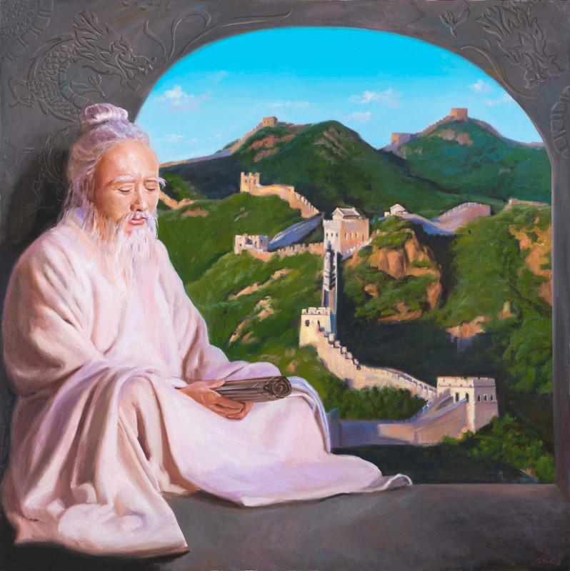 """Никас Сафронов """"Китайский философ (Мудрец)"""""""