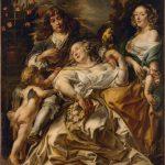 """Якоб Йорданс """"Аллегорический семейный портрет"""" Начало 1650-х"""