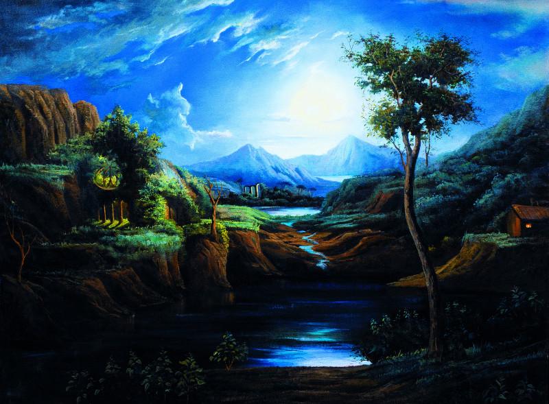 """Никас Сафронов """"Прекрасная ночь в Италии с видом на мой замок"""""""