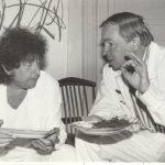 Боб Дилан и Андрей Вознесенский. Переделкино, 1985