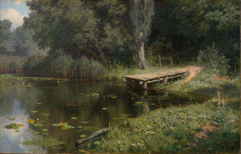"Василий Поленов ""Заросший пруд"" 1879"