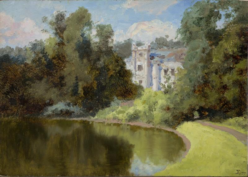 """Василий Поленов """"Пруд в парке. Ольшанка"""" 1877"""