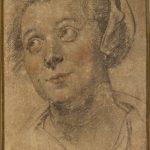 """Якоб Йорданс """"Этюд головы молодой женщины"""" Около 1635-1640"""