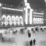 """Э. Евзерихин """"Площадь Крестовской заставы (ныне - Рижская). Крестовские водонапорные башни"""" Не ранее 1937"""