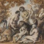 """Якоб Йорданс """"Младенец Юпитер кормится молоком козы Амалфеи"""" Около 1640"""