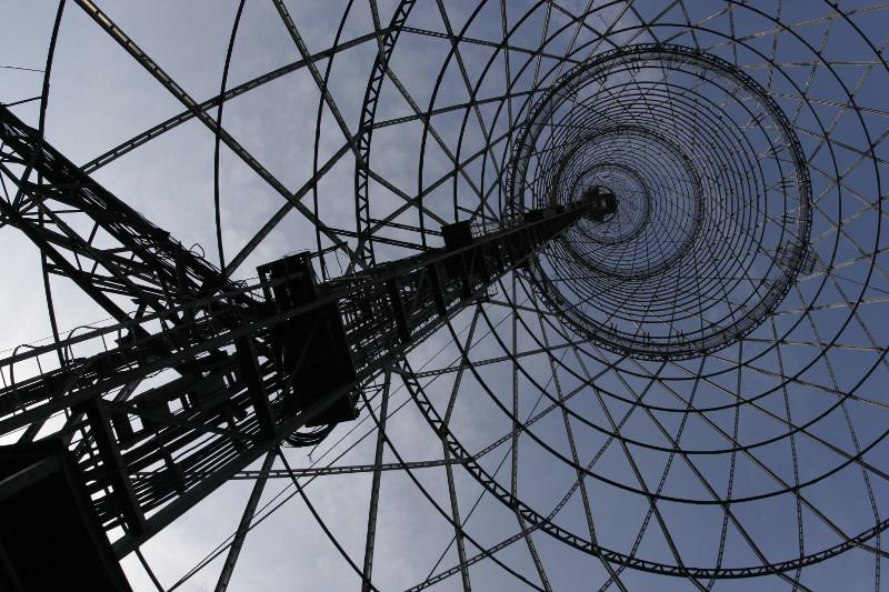 Шаболовская радиобашня системы инженера В.Г. Шухова, 1919-22, фотография 2007 года