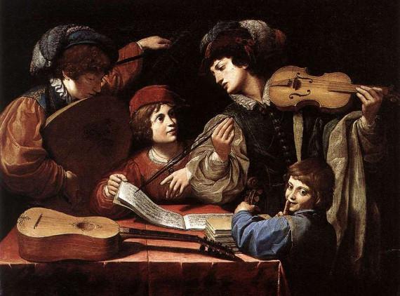 """Вечер французской барочной музыки. Галерея """"Открытый Клуб""""."""