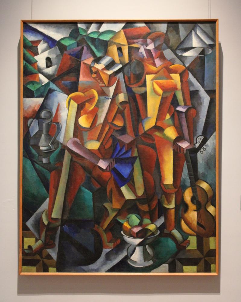"Любовь Попова ""Композиция с фигурами (Две фигуры)"" 1913 Дар Г.Д. Костаки"
