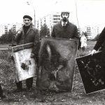 Бульдозерная выставка. 1974 год. Сергей Бордачев - крайний справа.