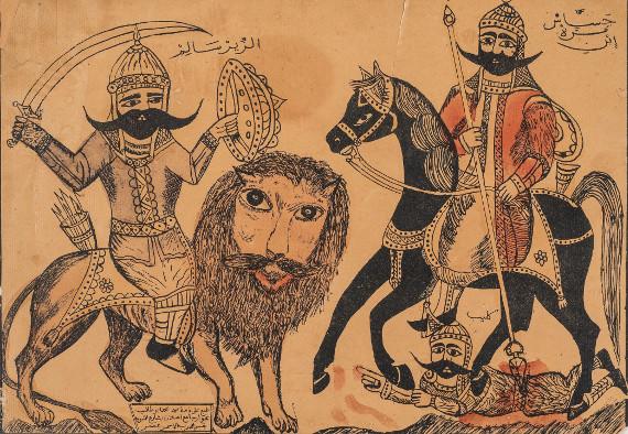 Поединок Аз-Зир Салема с Джассасом ибн Муррой. Предоставлено: Государственный Музей Востока.