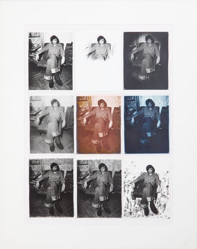 """Георгий Кизевальтер """"Портреты (А. Монастырский). От белого к черному"""" 1982"""