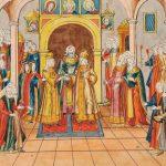 Венчание царя Михаила Федоровича и Евдокии Лукьяновны Стрешневой в Успенском соборе Московского Кремля
