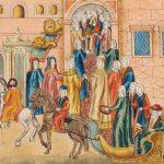 Шествие царя Михаила Федоровича и царицы Евдокии Лукьяновны после венчания в Грановитую палату на брачный пир