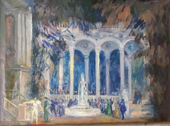 Г. Базурин «Эскиз декорации к опере Дж. Верди «Риголетто»