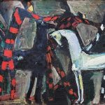 """Моисей Фейгин """"Арлекины и кони (Наездники)"""" 1995"""