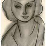 """Анри Матисс """"Женский портрет (Л.Н. Делекторская)"""" 1945"""
