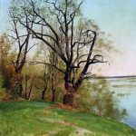"И.И. Левитан ""Дуб на берегу реки. Этюд"" 1887"