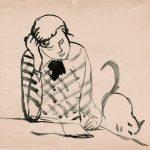 """Антонина Софронова """"Девочка с кошкой"""" 1932"""