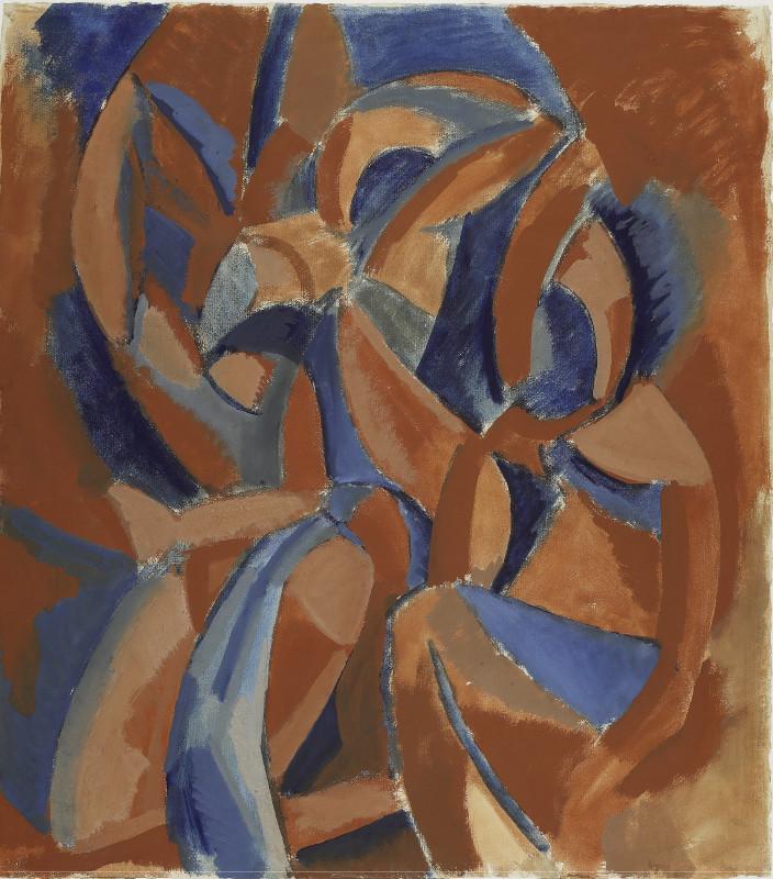 """Пабло Пикассо """"Три женщины. Эскиз картины"""" Между осенью 1907 и весной 1908"""
