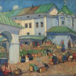 "Р.Р. Фальк ""Базар в Костроме"" 1909"