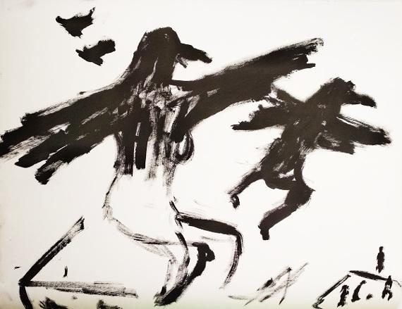 """Выставка """"Хаим Сокол. Состояния. Графические истории"""". Галерея Роза Азора."""