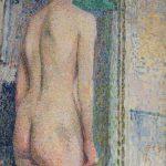 """А.А. Кокель """"Обнаженная женская модель со спины"""" 1910-е"""