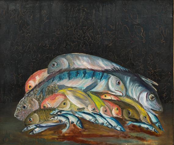 Наталья Северцова-Габричевская «Рыбы» 1968. Предоставлено: ГМИИ имени А.С. Пушкина.