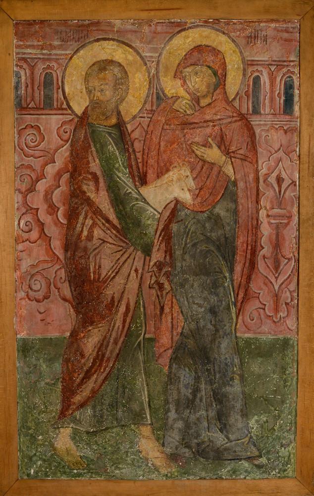 Иоаким и Анна с жертвенным барашком