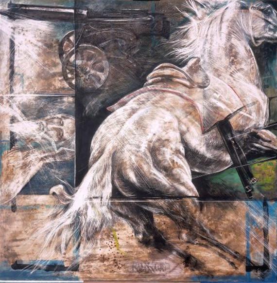 "Александр Рукавишников ""Лошадь и пулемет"" 2005 Предоставлено: Арт-галерея VS Unio."