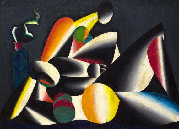 Олег Целков «Две женщины» 1957 Предоставлено: Музей AZ.