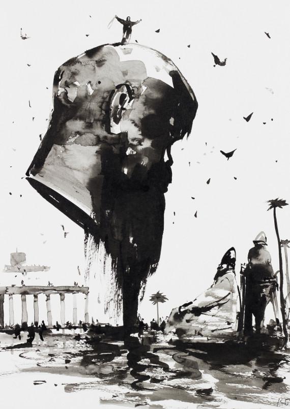 """Выставка """"Давид и Голиаф Константина Батынкова"""". Галерея """"Открытый Клуб""""."""