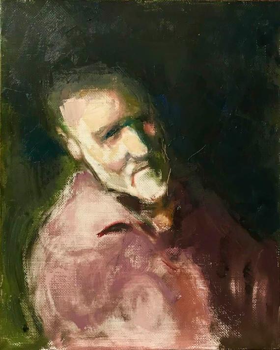 Михаил Бабенков «Автопортрет» 2019. Предоставлено автором.