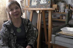 В мастерской художника. Анна Замула.