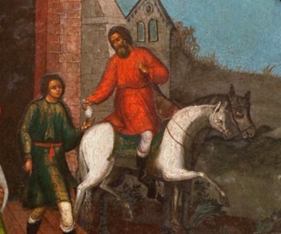 Фрагмент иконы из иконостаса Покровского собора. © Государственный Исторический музей.