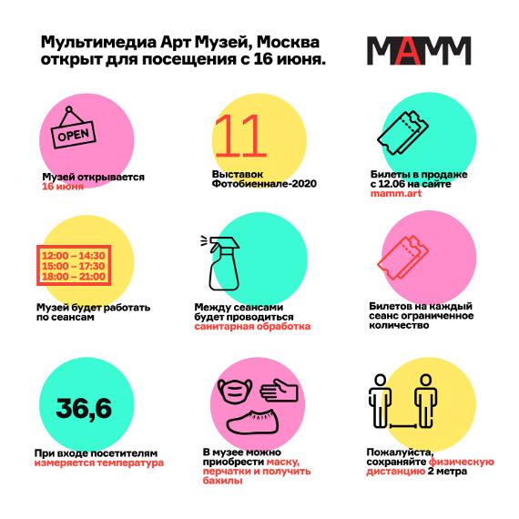 Мультимедиа Арт Музей, Москва открывается 16 июня.