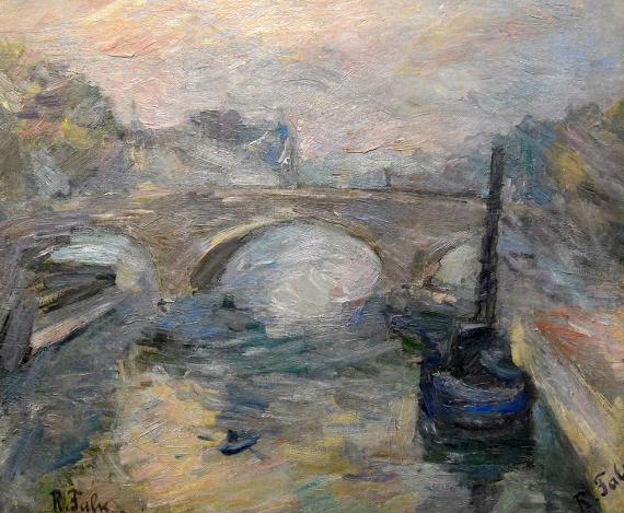 Роберт Фальк «Мост Сен-Мишель» 1930. Частное собрание, Санкт-Петербург. Предоставлено: Галерея «Наши художники».