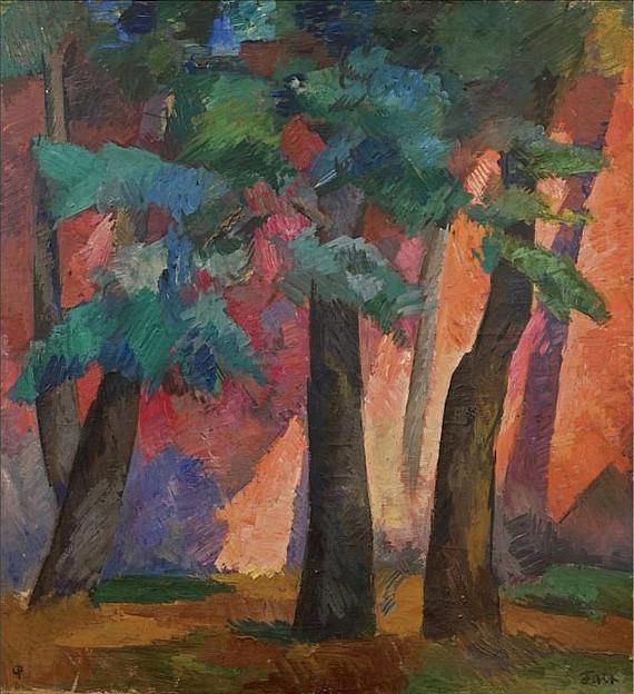 Роберт Фальк «Деревья на закате» Около 1920. Частное собрание. Предоставлено: Галерея «Наши художники».