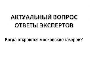 Когда откроются московские галереи?