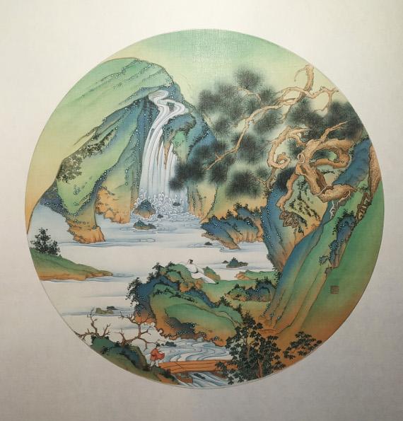 Пейзаж с водопадом. Предоставлено: Государственный Музей Востока.