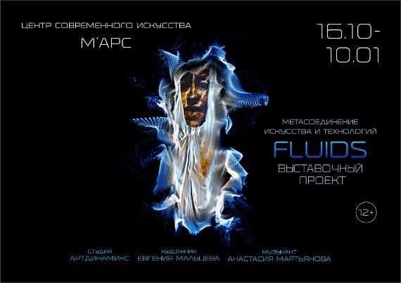 Выставка Евгения Мальцева Fluids Метасоединение искусства и технологий Центр МАРС