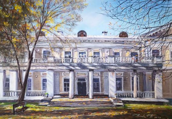 Линда Крицкая «Восточный фасад усадебного дома в «Узком» 2020. Предоставлено: Усадьба «Узкое».