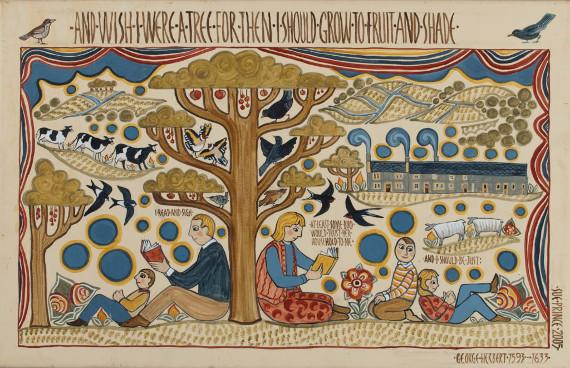 Сью Принс «Вот бы стать деревом» 2005. Предоставлено: Музей русского лубка и наивного искусства.