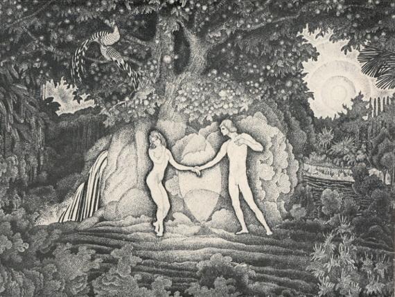 Константин Юон «Адам и Ева» 1908-1909. Собрание Серпуховского историко-художественного музея.