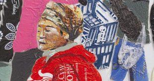 Выставка Сауле Сулейменова Картины из пакетов ART Коробка ТРЦ Ривьера