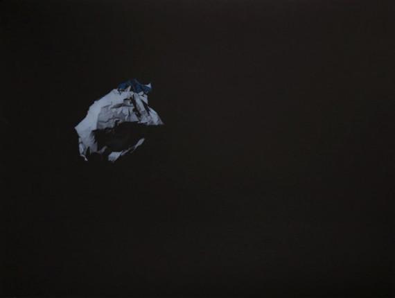 """Александр Мортаев """"Лист 1 из серии """"Космический мусор"""". Предоставлено: Музейный центр """"Площадь Мира"""", Красноярск."""