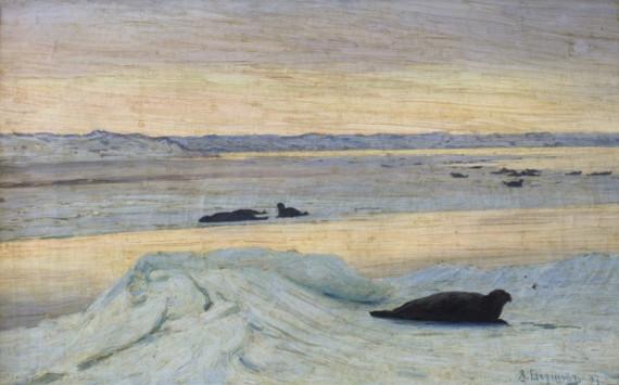 А.А. Борисов «Тюлень» 1897. Предоставлено: Пензенская картинная галерея им. К.А. Савицкого.