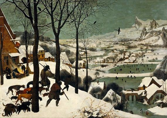 Питер Брейгель Старший «Охотники на снегу» 1565. Музей истории искусств, Вена.